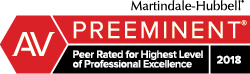 Peer Rated for Highest Level of Professional Excellence